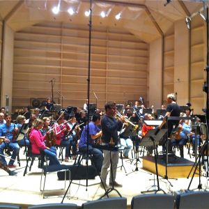 Recording session for Tomasi Concerto with Tampere Philharmonic
