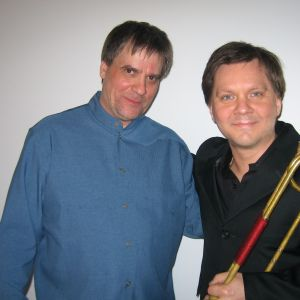with John Storg�rds after concert with Finnish Baroque Orchestra