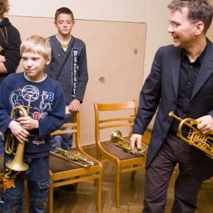 teaching kids in Ventspils, Latvia